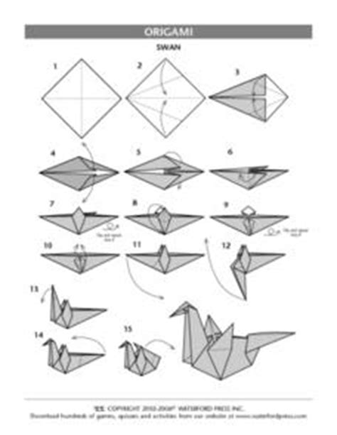 How To Make A Paper Swan Out Of Triangles - origami swan 5th 6th grade lesson plan lesson planet