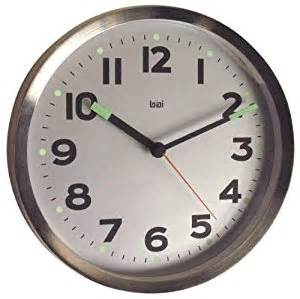 Wall Clock Online Amazon Amazon Com Bai Brushed Stainless Steel Wall Clock Silver