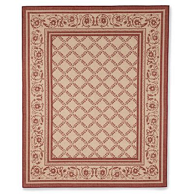 8 X 10 Trump Style Red Beige Patio Rug Big Lots Big Lots Outdoor Rugs