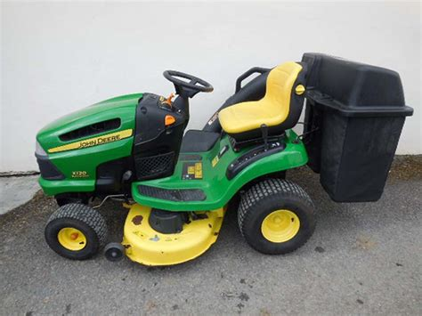 used deere x120 lawn tractor