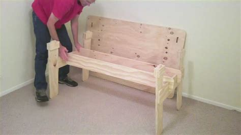how to make a trestle desk how to make a trestle from one sheet of plywood