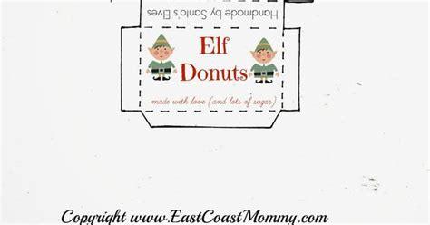 elf on the shelf donut printable elf on the shelf donuts free printable box shelves