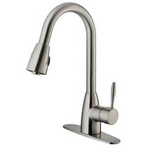 stainless kitchen faucets vigo graham single handle pull out sprayer kitchen faucet with deck plate in stainless steel