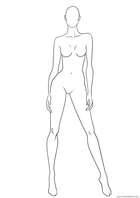dress design model template template dress design template model how to draw images
