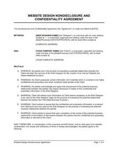 non disclosure agreement template australia website design non disclosure agreement template
