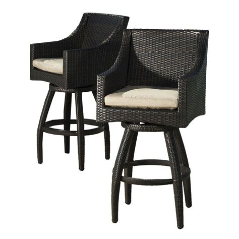 outside patio bar stools polywood nautical slate grey patio bar chair ncb46gy the home depot