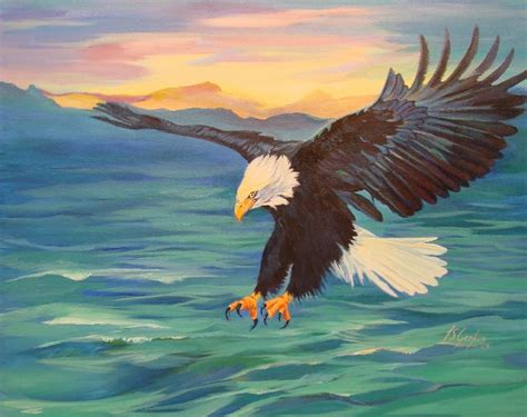 acrylic painting eagle original paintings on canvas