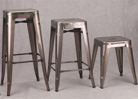 industrial tolix inspired medium metal bar stool furniture