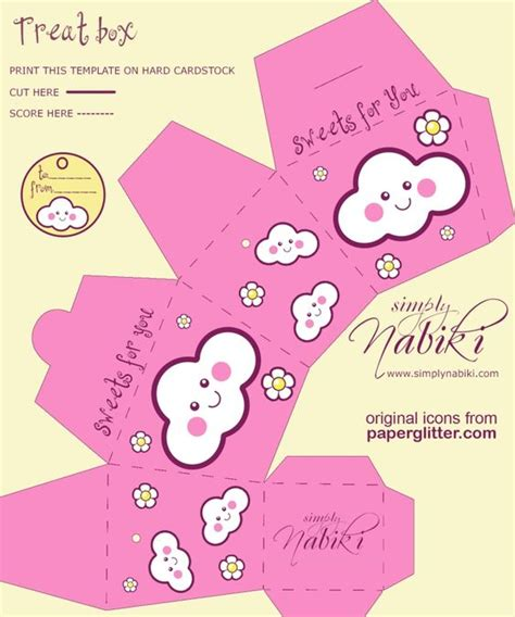 Treat Box Boxes And Free Printable On Pinterest Treat Box Template