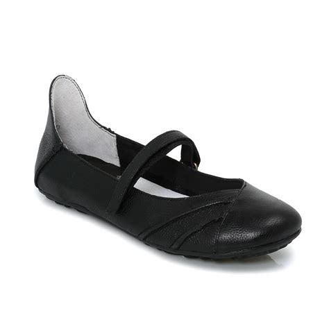 Black Hush Puppies hush puppies brietta black leather womens flats shoes size