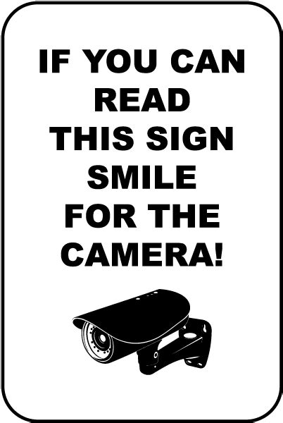 For A Smile Read The by If You Can Read This Smile Sign F8067 By Safetysign