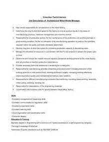 resume for assembly line worker sles of resumes