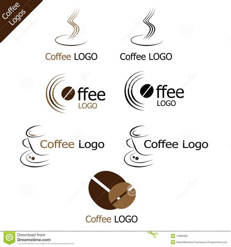 coffee logos stock photography image 13989382