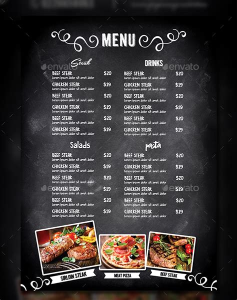 design menu in photoshop 95 photoshop menu templates 5 food menu templates