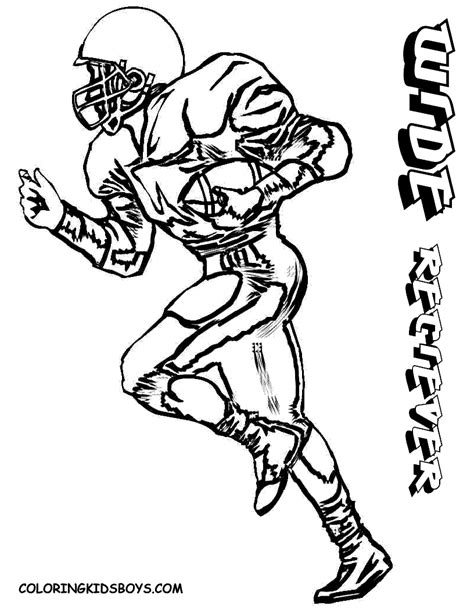 coloring page of a football player josh loves these football coloring pages kid art