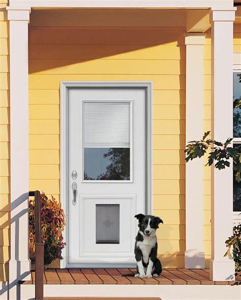 Door With Doggie Door by Custom Doors With Doggie Door Jeld Wen 174 Steel And Fiberglass Doors With Installed Pet Door