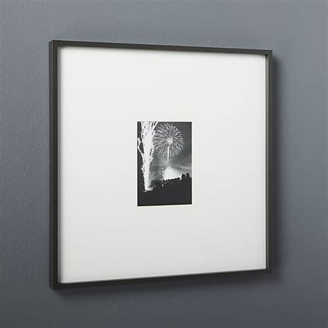 black matte picture frames cb2 gallery black 5x7 picture frame cb2