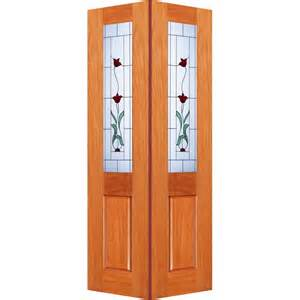 Bifold Glass Doors Woodcraft Doors 2040 X 820 X 35mm Cass Bifold Door With Creeping Flower Frosted Glass