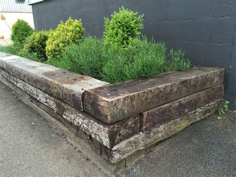 Raised Beds With Railway Sleepers by Norfolk Lavender Railway Sleeper Raised Beds