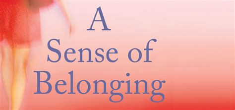 a sense of belonging james