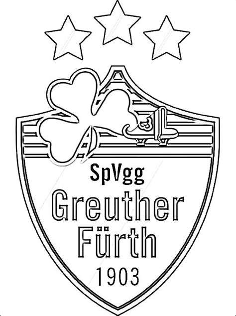 coloring page  spvgg greuther fuerth logo coloring pages