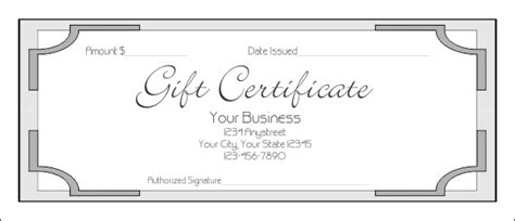 gift card templates for pages gift certificate template certificate templates
