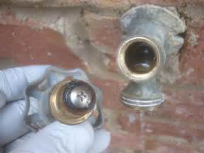 how to fix an outside water faucet hose bib when it