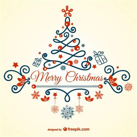 tarjeta de feliz navidad vintage descargar vectores gratis