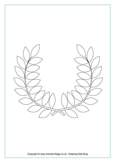 blank wreath coloring page olympic wreath colouring page