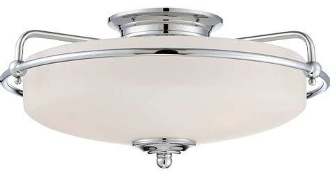 Ceiling Mount Bathroom Vanity Light Quoizel Lighting Gf1617c Griffin Flush Mount Ceiling Light In Polished Chrome Modern