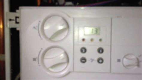 pressurise vaillant ecotec pro boiler showing