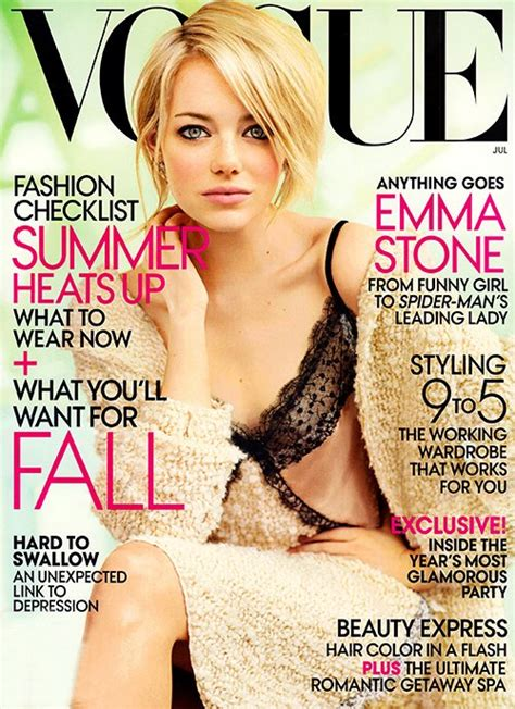 emma stone vogue emma stone covers vogue today s evil beet gossip today