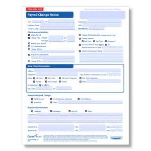 payroll change notice form template payroll change form for employees