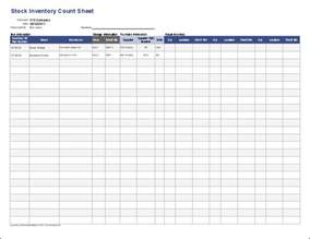Inventory Sheet Template by Inventory Template Stock Inventory