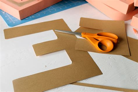 Metallic Craft Paper - metallic paper crafts diy letters the country chic cottage