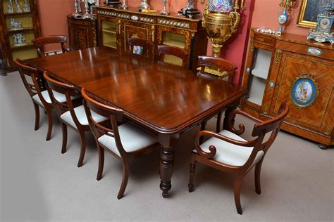 antique 8ft mahogany dining table 8 chairs