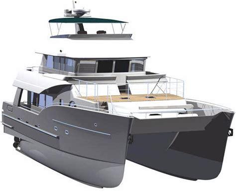 catamaran davit design neff yacht sales used 65 foot north island trawler