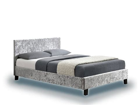 three quarter bed berlin parade steel crushed velvet three quarter 3 4 bed