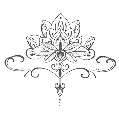 waterproof temporary tattoo stickers cute buddha lotus