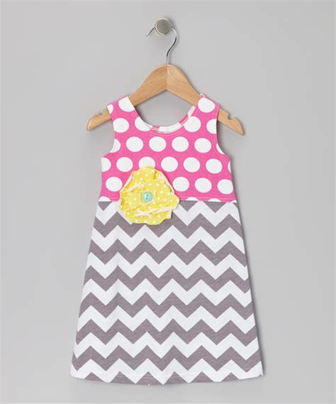 simple dress pattern 1 year old pretty me pink gray mod blossom shift dress toddler