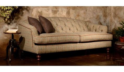 Leather And Tweed Sofa Harris Tweed Paisley Sofas Darlings Of Chelsea