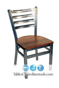Ladder Back Restaurant Chairs Gladiator Clear Coat Ladder Back Metal Restaurant Chair W