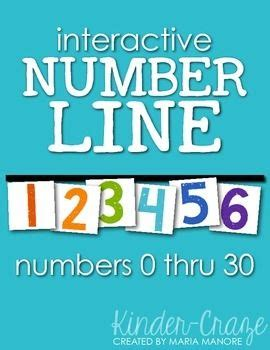interactive number line printable number lines numbers and separate on pinterest