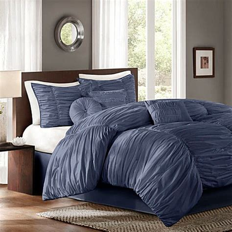 sidney comforter set in blue bed bath beyond