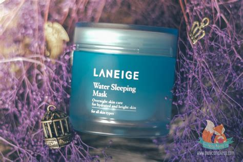 Masker Laneige review laneige water sleeping mask punica makeup