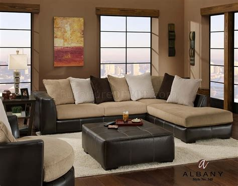 sectional or two couches two tone modern san marino sectional sofa w optional items