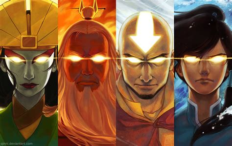 Anime Avatar 5 avatar aang vs avatar korra 29 background wallpaper