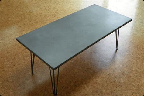 concrete coffee table with hairpin legs « Concrete Pete