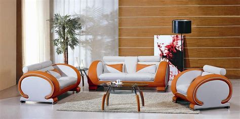 7391 orange white living room furniture