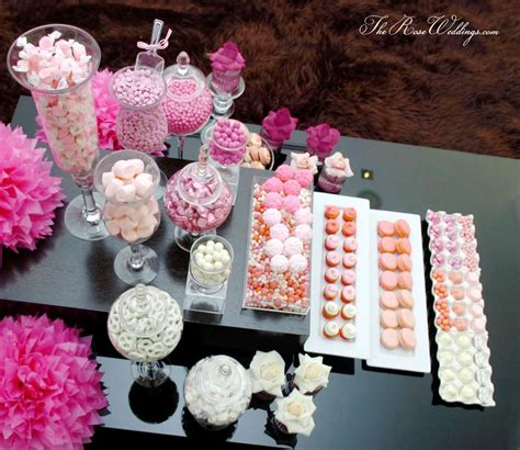 Table Set Decoration 15 Bridal Shower Birthday Baby Shower ombre pink dessert table bridal wedding shower ideas